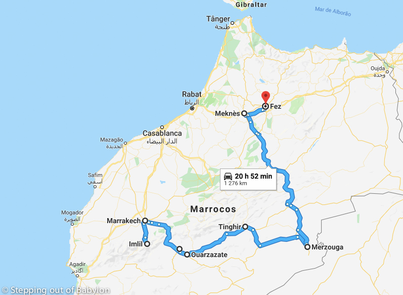 20 days in Morocco: maps, costs and itinerary