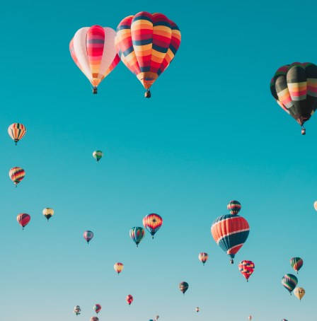 Hot Air Balloons Floating to the Sky