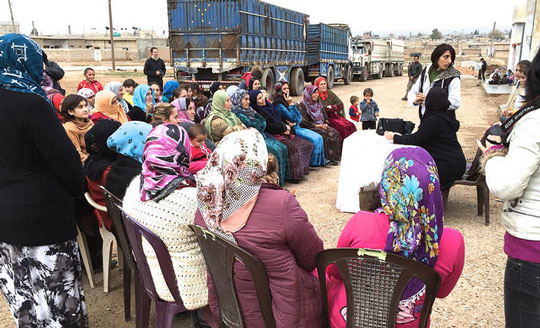 women's assembly near Qamislo