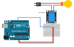 Arduino 5V relay module KY019  Steps2Make