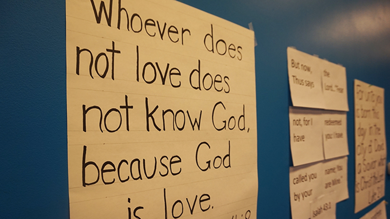 Bible Verses Posted on the Wall for Kids to Learn
