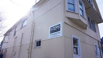 Steps Building Outside