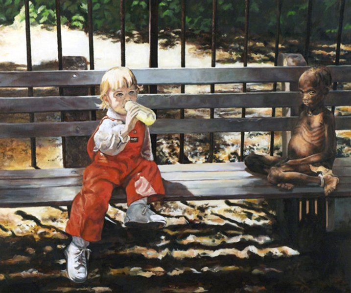 No Child Left Behind - Painting by Gary L Wolfe