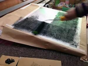 工場内グリワイド加工「スロープに塗布」