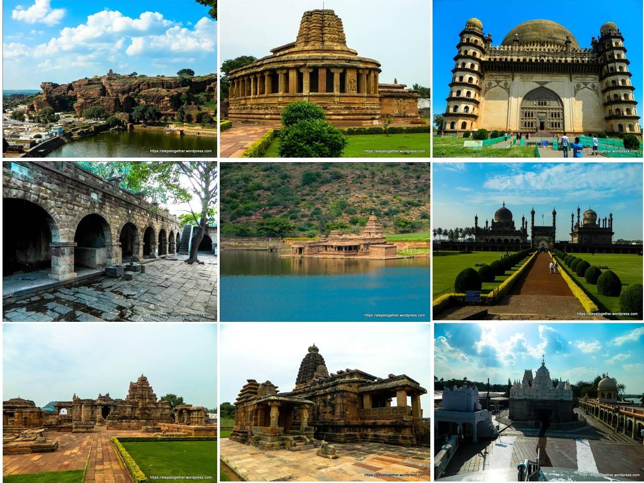 Badami, Aihole, Pattadakal, and Bijapur monuments