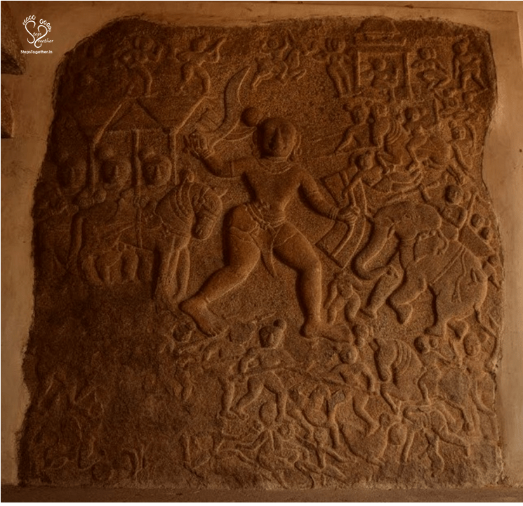 Wonderful creation depicting Rajendra Chola I in battle