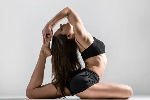 Woman doing a back extension