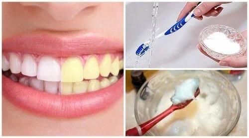 Bicarbonato de sódio para branqueamento dentário