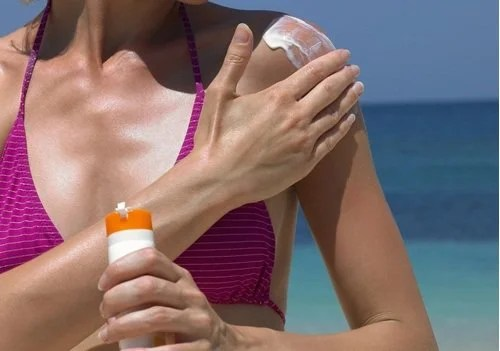 Sagging breasts due to neglect sunscreen
