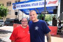 image of steve and marnie at New Orleans 9/11 Memorial Stair Climb 2016