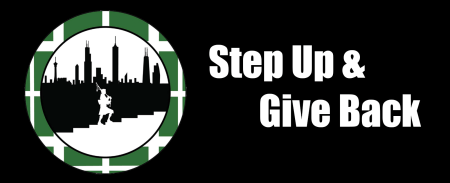 logo for Step Up and Give Back