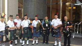 image of bagpipers in dallas