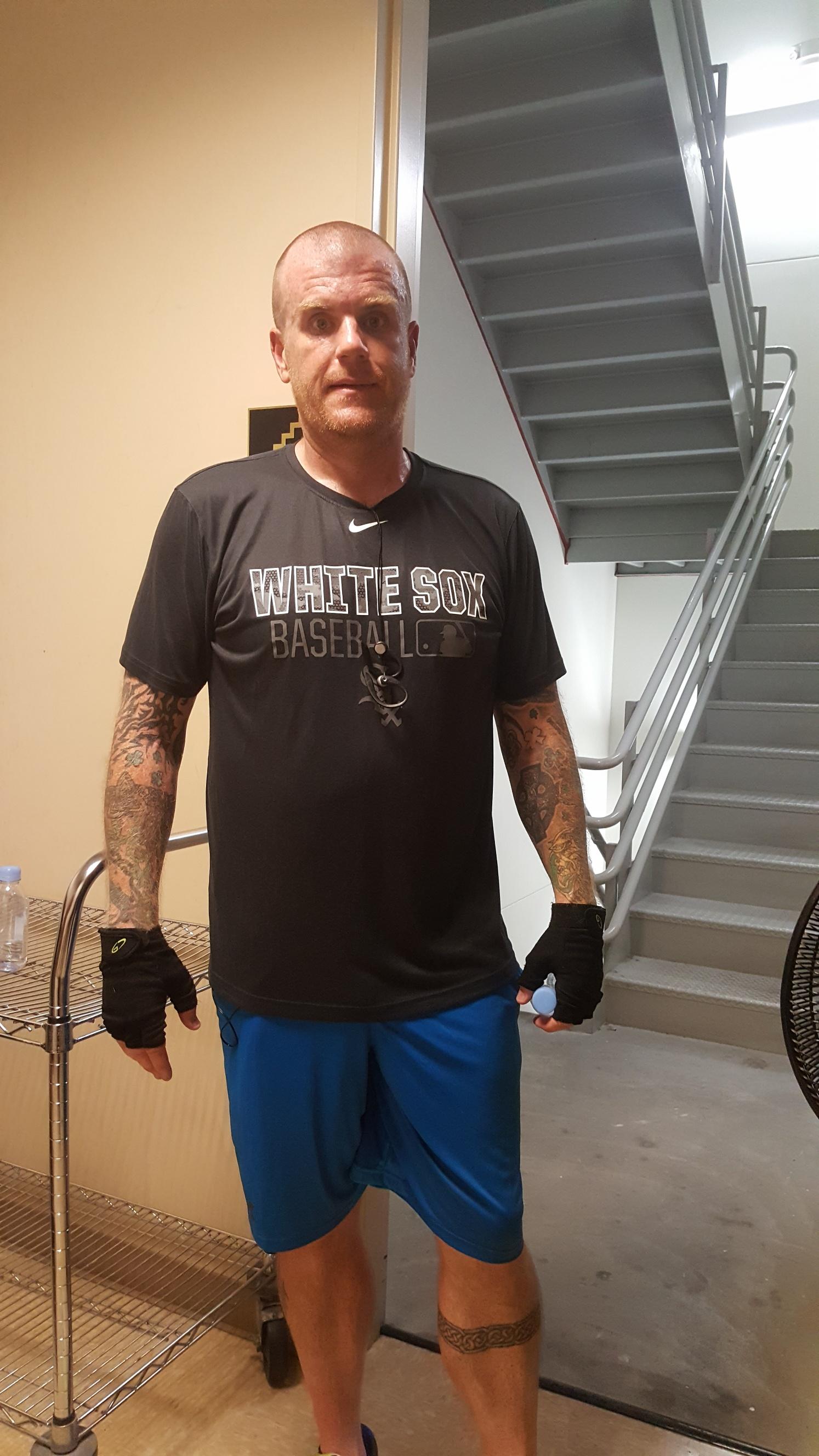 image of steve at Vertical Mile Training 9000+ steps- Chicago 2016