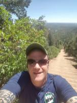 selfie of steve mid-climb at Manitou Inline Colorado June2018