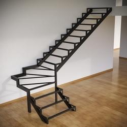 Только каркас лестницы