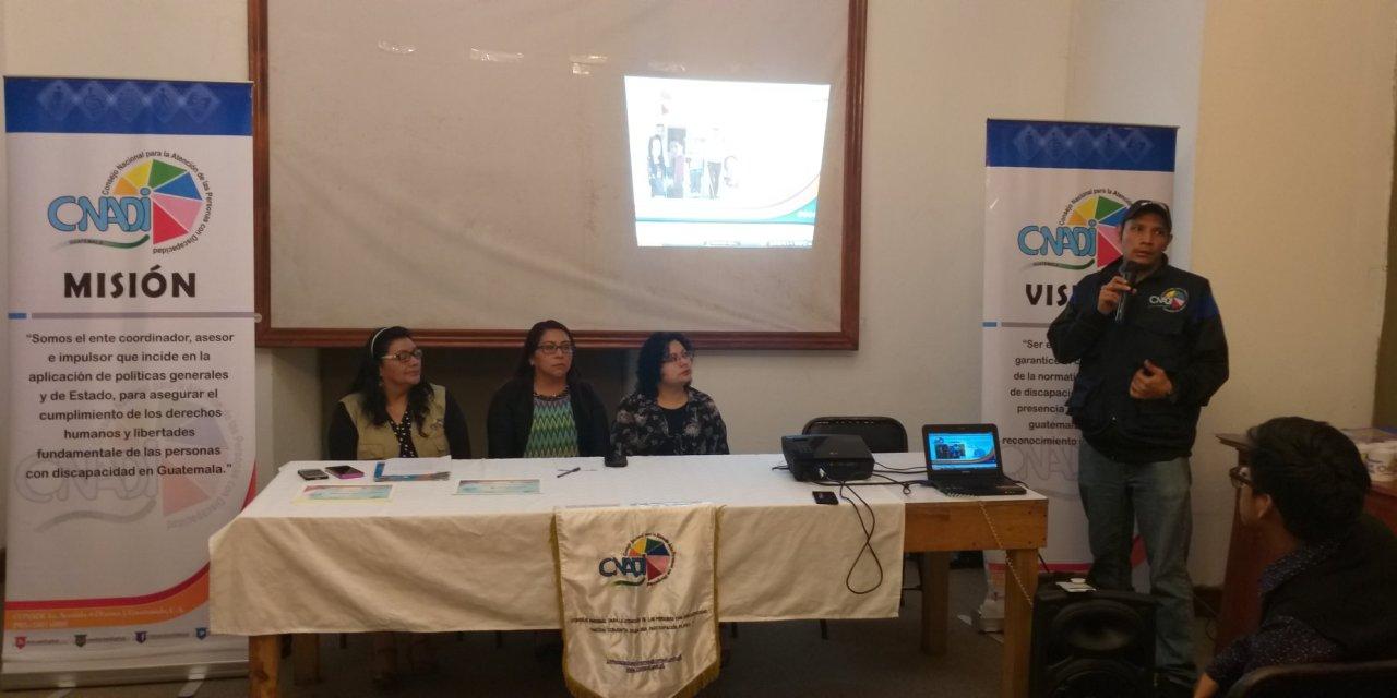 Conadi presenta en Xela campaña de inclusión