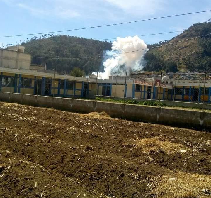 Tres muertos y tres heridos deja explosión de coheteria en San Adrés Xecul