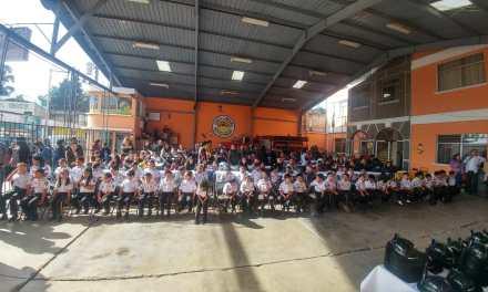 Bomberos Voluntarios clausuran Brigada Infantil