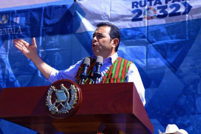 Abucheo al presidente Jimmy Morales