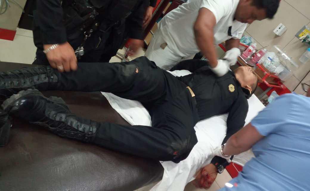 Agente policial resulta herido de proyectil de arma de fuego