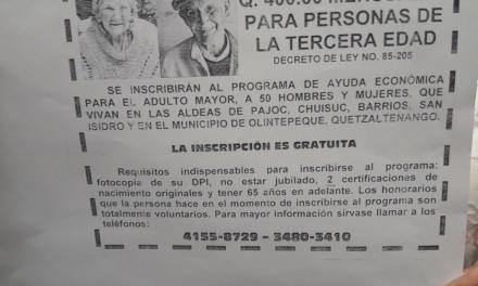 MINTRAB advierte de estafas a adultos mayores