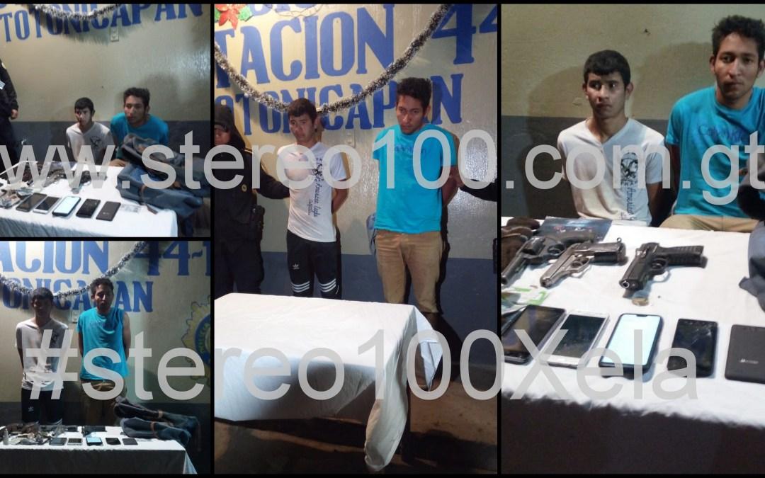 Pobladores capturan a asaltantes de bus en Totonicapán