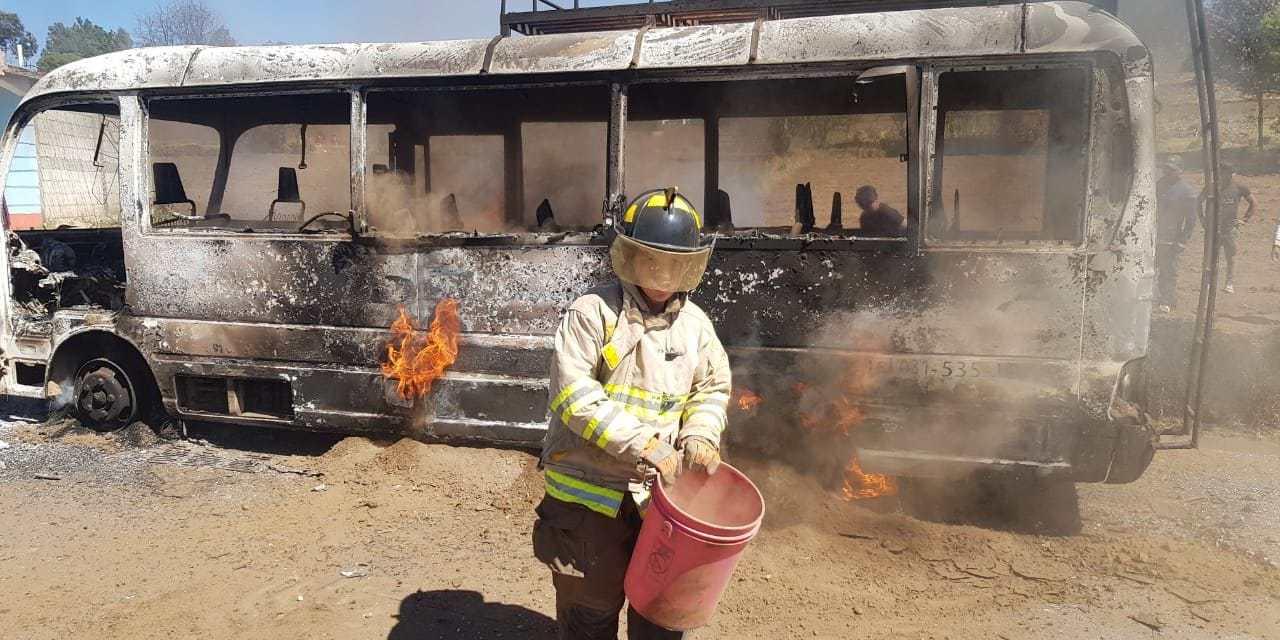 Delincuencia sale a relucir, tras incendio de bus en Totonicapán