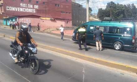 Fallas mecánicas en motobomba provoca accidente en la Cuesta Blanca