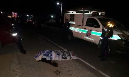 Muere tras ser arrollado por vehículo
