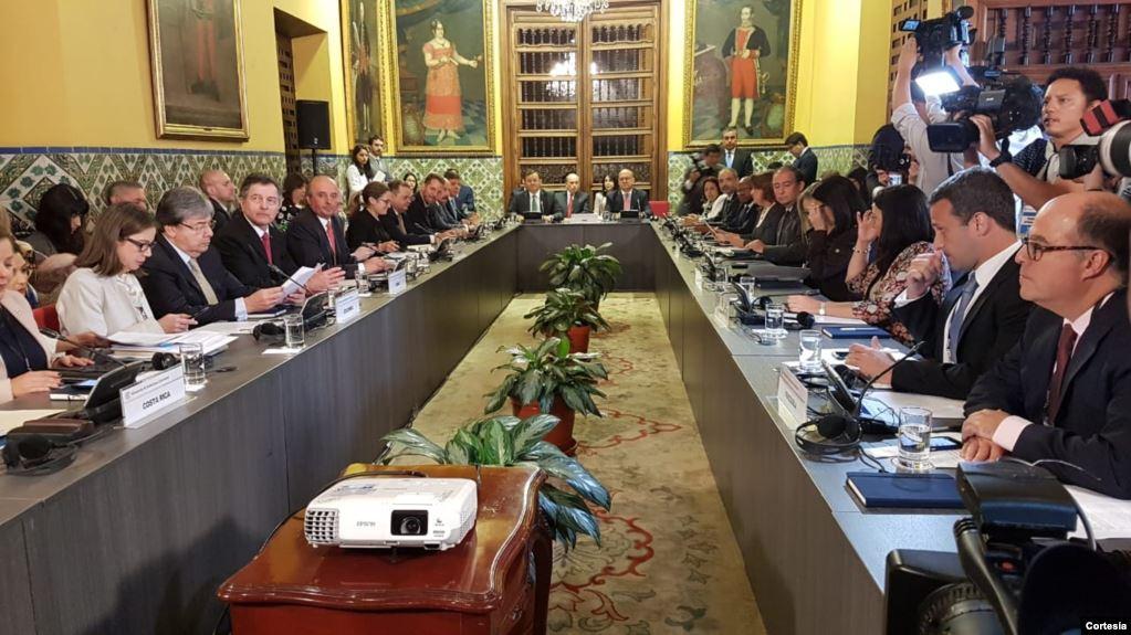Grupo de Lima se reúne este jueves en Guatemala