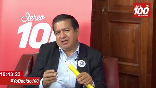 Candidato a alcalde de Xela, Natan Rodas, de Prosperidad Ciudadana, en #YoDecido100