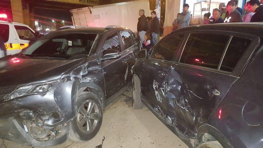Aparatoso accidente en el Puente Las Américas