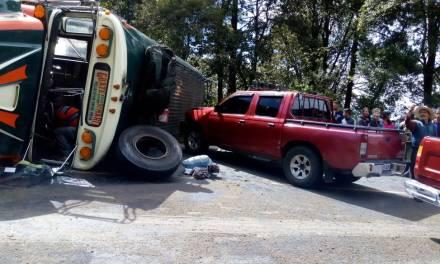 ¿Cuántos heridos deja accidente protagonizado por bus Tacaná?