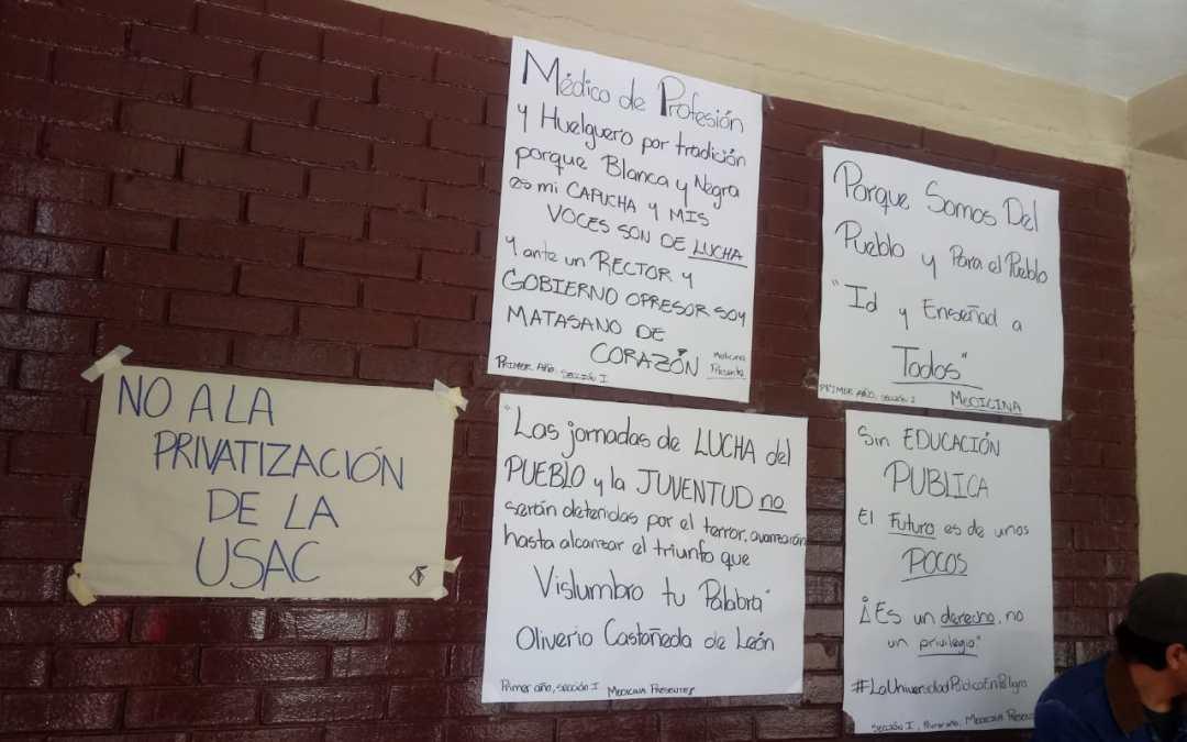 Estudiantes continúan con la toma del CUNOC, ahora piden ayuda de ciudadanos