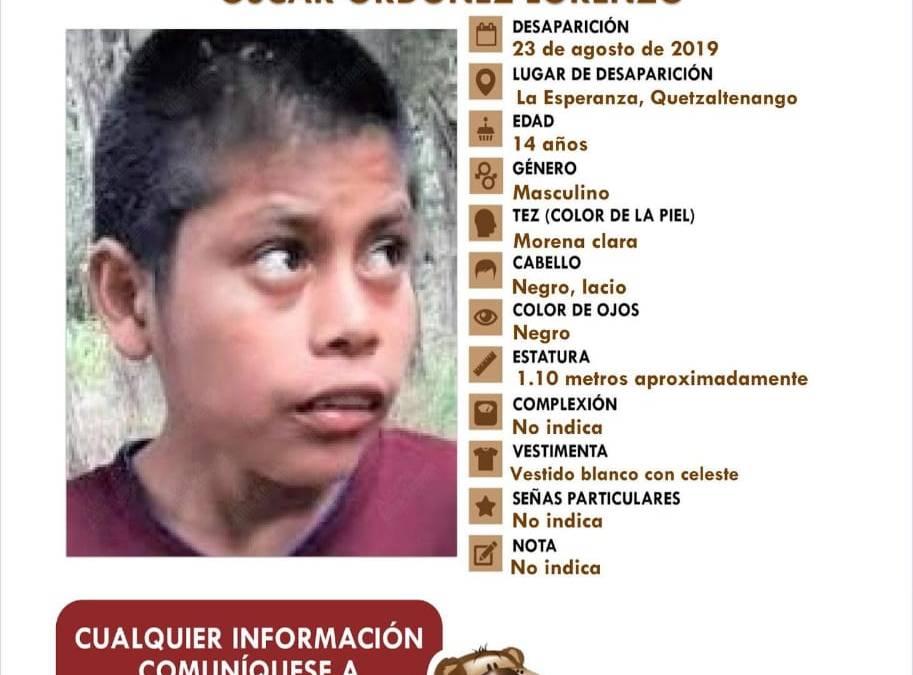 """Buscan a niño que fue enviado a hogar por """"robar para comer"""""""