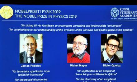 Tres científicos reciben Premio Nobel de Física 2019 por descubrimientos de astronomía