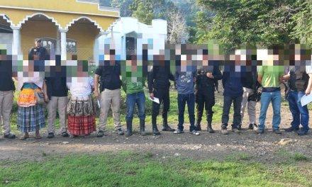 PNC captura a 8 personas en Izabal por asesinato de militares
