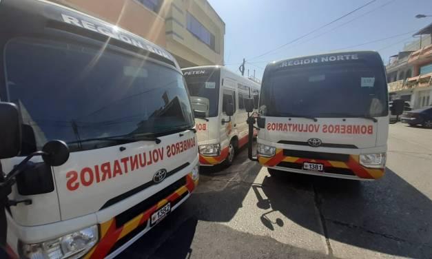 Bomberos Voluntarios de Xela recibirán bus en 59 aniversario