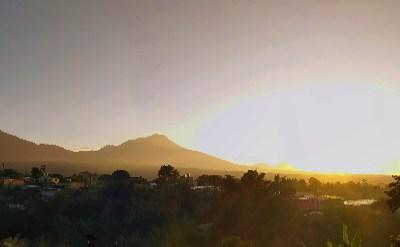 Amanecer, Volcán Santiaguito, frío, Quetzaltenango. La combinación perfecta, observe aquí fotografías