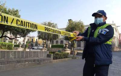 Cierran parques en Quetzaltenango para prevenir contagios de COVID-19