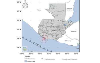 Sismo de 5.7 sensible en Quetzaltenango con epicentro en las costas de Escuintla
