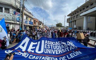 Ciudadanos muestras su rechazo al gobierno de Alejandro Giammattei y a la gestión de Consuelo Porras