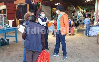 Aproximadamente 20 personas accedieron a ser vacunadas en el Mercado de Mayoreo de Sololá