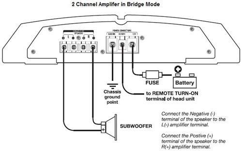 600w dual amp wiring diagram