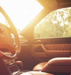 beautiful car interior warming in the sunset [ 1600 x 539 Pixel ]