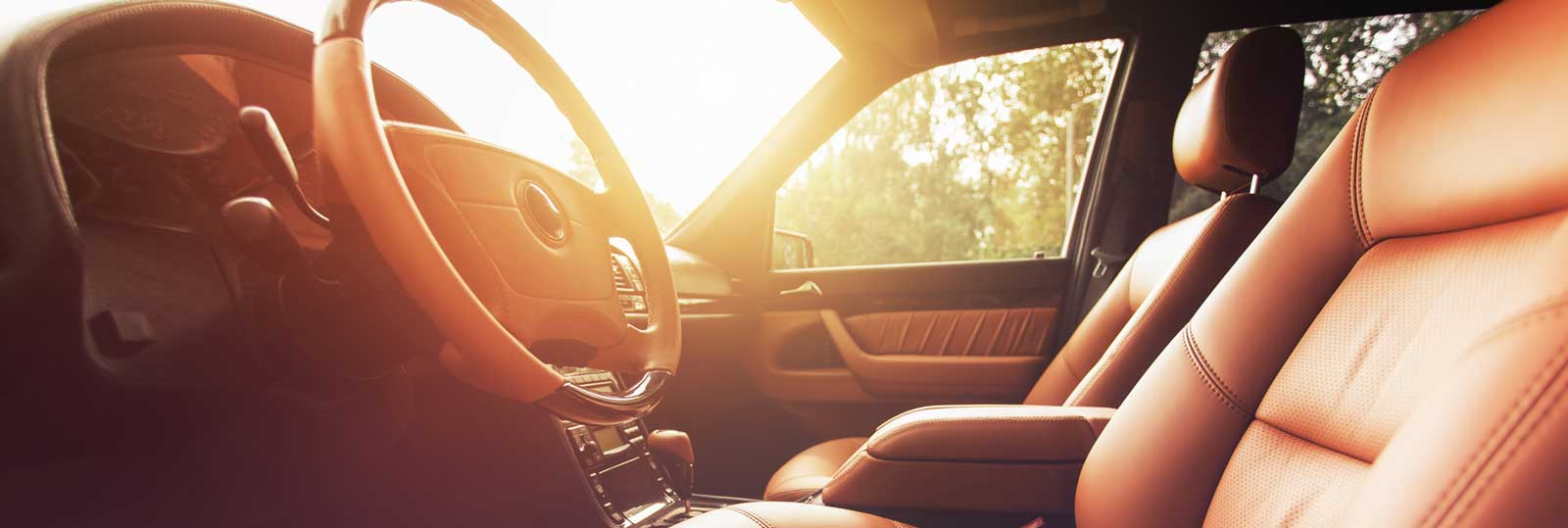 hight resolution of beautiful car interior warming in the sunset