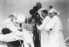 Filming Herniorrhaphy, Walter Reed Army Hospital, 1918