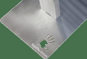 Spendersäule, Desinfektionsmittelspender, Seifenspendersäule - Fußplatte - SterilTec