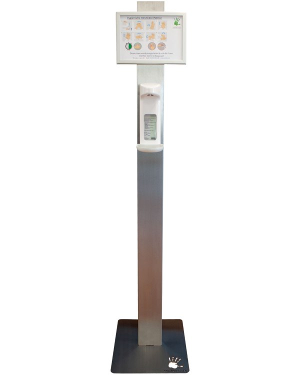 SterilTec Desinfektionsmittel- und Seifenspendersäule | mit Sensorspender