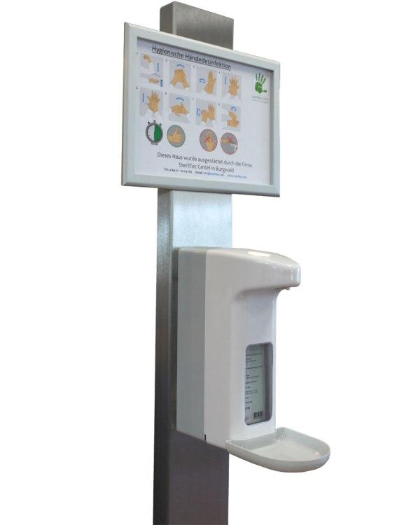 Spendersäule | mit Sensorspender 500ml 4
